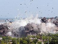 Взрыв здания межкорейского офиса связи в Кэсоне