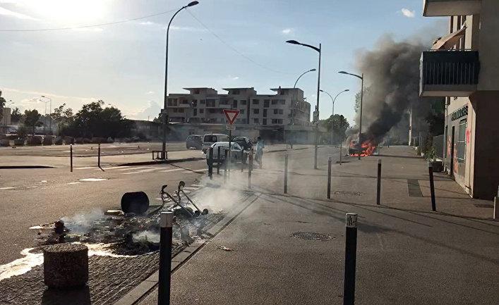 Последствия ночных беспорядков в Дижоне, Франция
