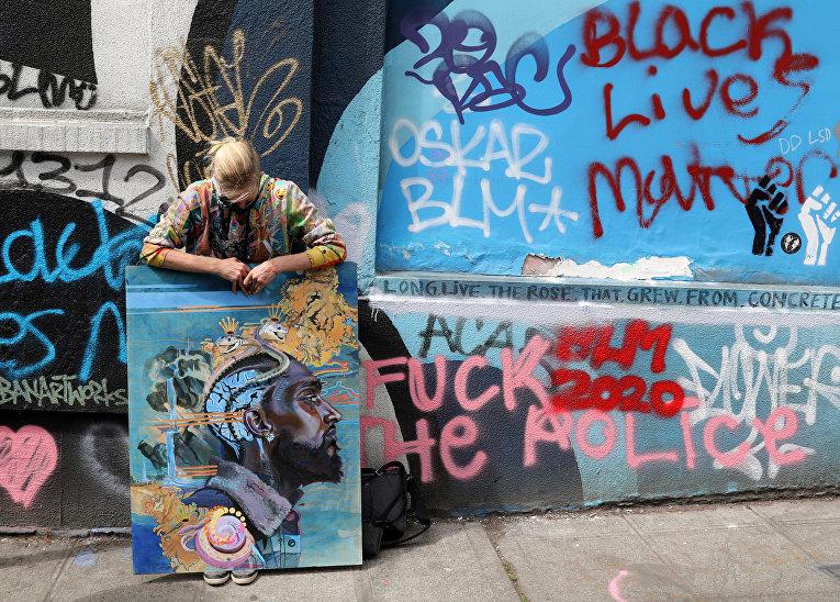 14 июня 2020. Протесты против расизма и неравенства в Автономной зоне Капитолийского холма, Сиэтл, США