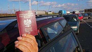 Пограничный пункт перехода Мамонтово-2 на границе с Польшей