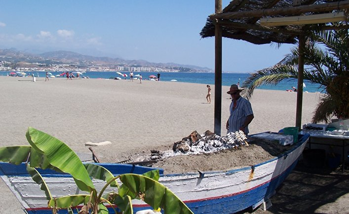 Пляж в Коста-дель-Соль, Испания