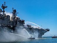 Пожар на корабле USS Bonhomme Richard в Сан-Диего