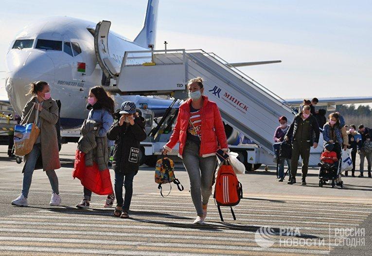 Ситуация в минском аэропорту в связи с коронавирусом
