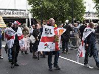 """Акция протеста """"Против исламского терроризма"""" в Лондоне, июнь 2017 г."""