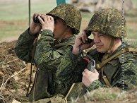 Учения по огневой подготовке Народной милиции ЛНР