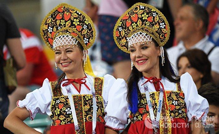 Болельщицы сборной России