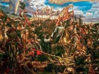 Ян III Собеский посылает папе римскому сообщение о победе после битвы при Вене. Ян Матейко, 1880 год