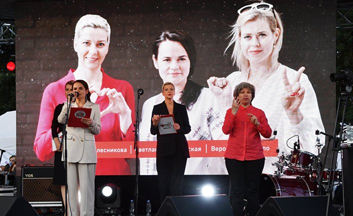 Встреча с избирателями кандидата в президенты Белоруссии С. Тихановской