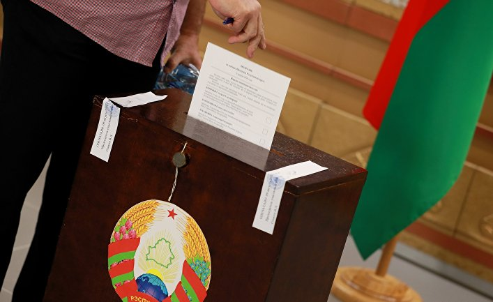Голосование на выборах президента Белоруссии в Москве