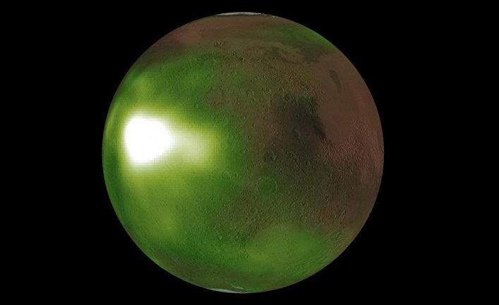 Снимок Марса космическим аппаратом НАСА «Мейвен»