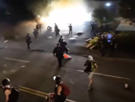 Watch Portland Police charge antifa line