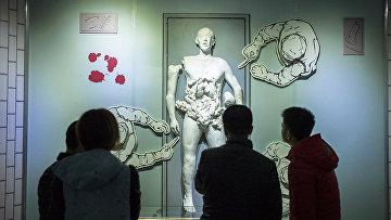 Экспонат музея, изображающий эксперименты над человеком в музее Unit 731 в Харбине