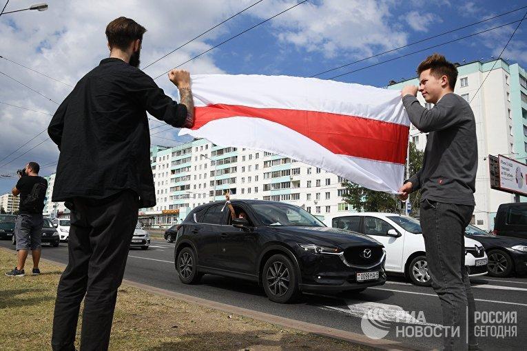 "Митинг протеста возле метро ""Пушкинская"" в Минске"