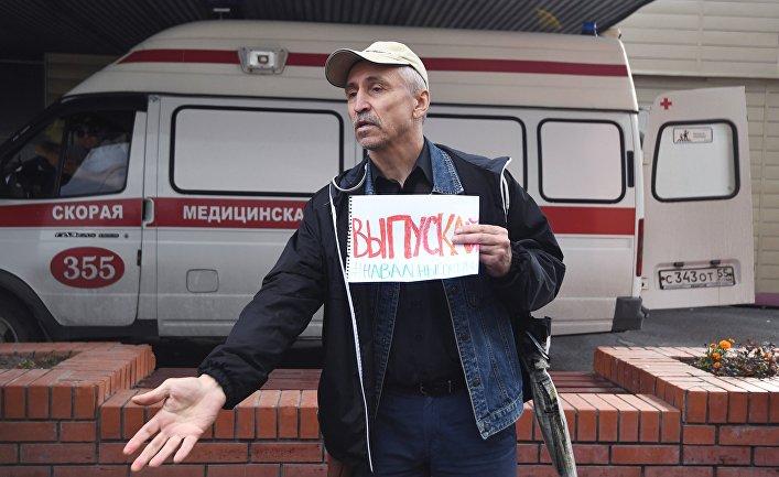 А. Навальный госпитализирован в реанимацию в Омске