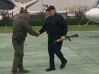 Лукашенко прибыл во Дворец Независимости