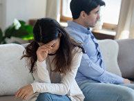 Семейная пара в ссоре