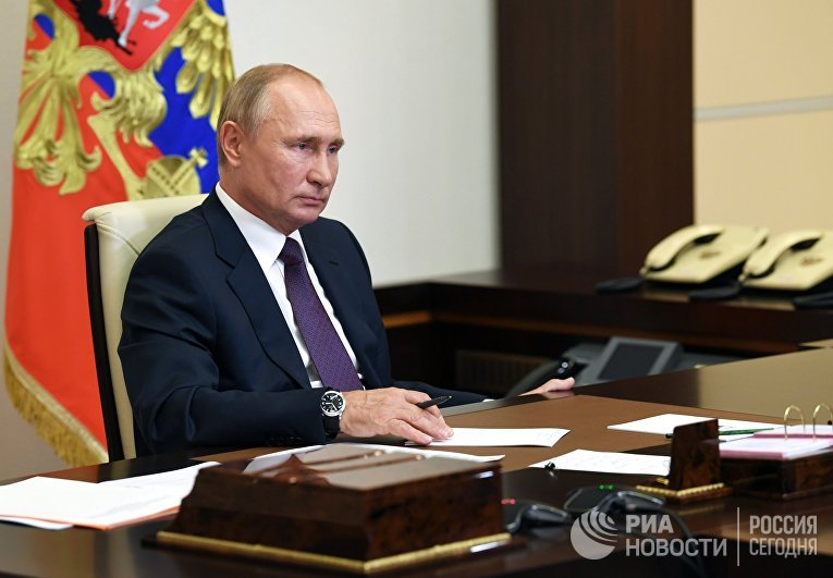 Президент РФ В. Путин встретился с выпускниками третьего потока программы кадрового резерва