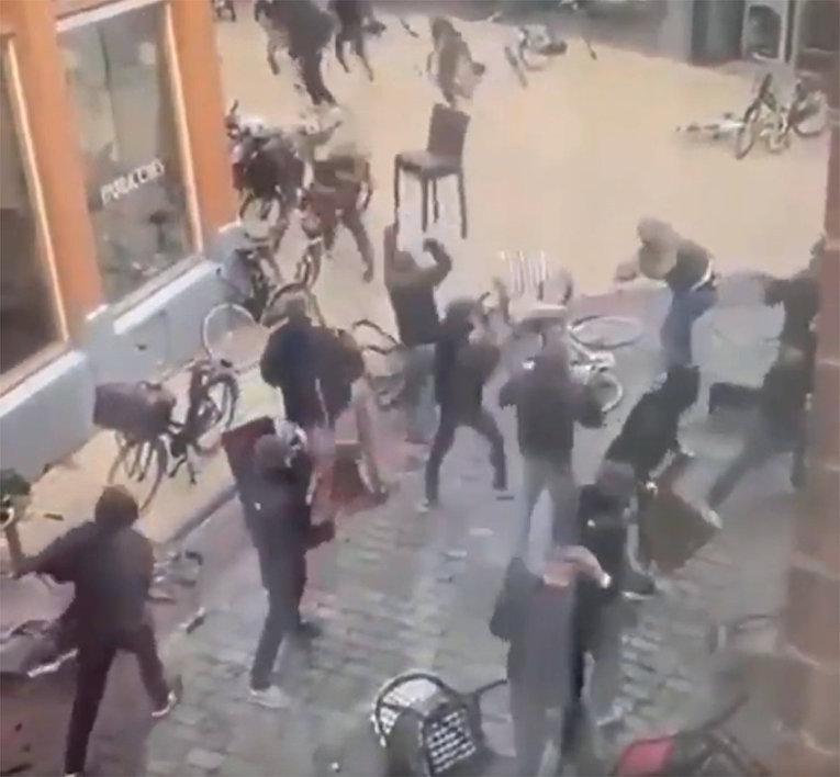 Уличная драка в Гронингене