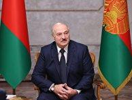 Президент Белоруссии А. Лукашенко дал интервью российским журналистам