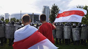 Несанкционированная акция оппозиции в Минске