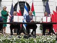 Церемония подписания «Соглашения Авраама» в Вашингтоне