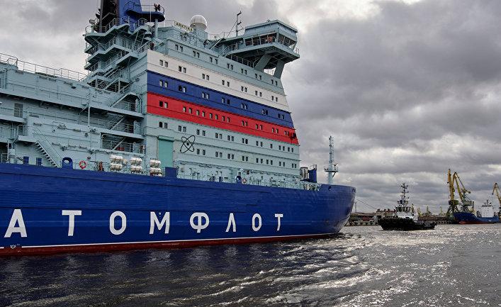 """Отправка ледокола """"Арктика"""" на ледовые испытания"""