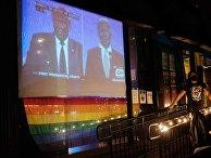 Трансляция дебатов Д. Трампа и Д. Байдена в США