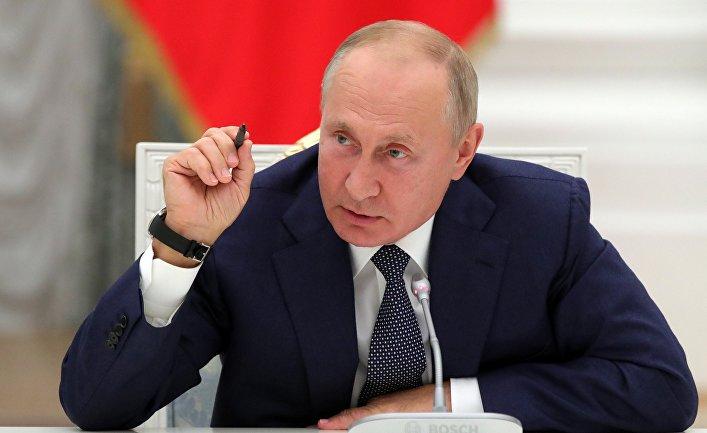 Президент РФ В. Путин встретился с работниками атомной отрасли