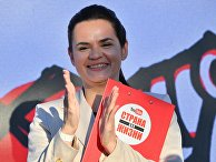 Светлана Тихановская на митинге-встрече с избирателями в городе Борисове