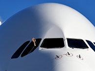 Самолет Airbus A380 авиакомпании Emirates Airlines