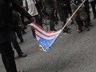 Антиамериканская акция протеста в Рио-де-Жанейро