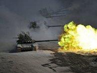 Танки Т-72 на военных учениях