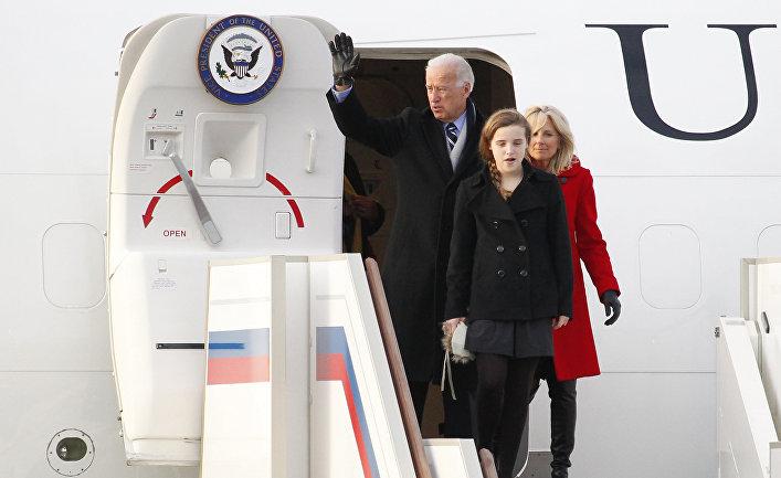 Прилет вице-президента США Джо Байдена