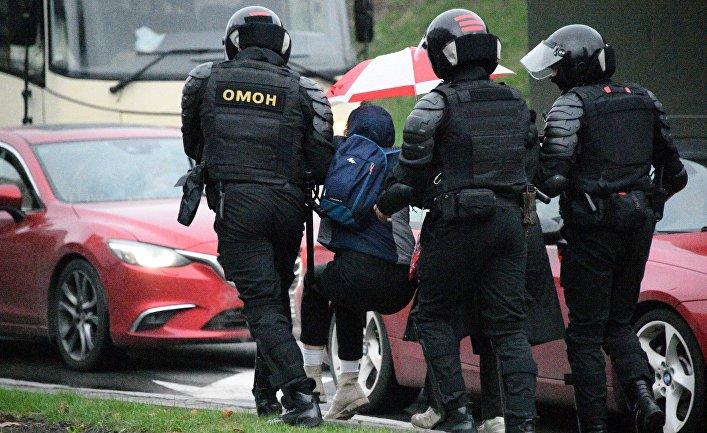 Протесты с Белоруссии