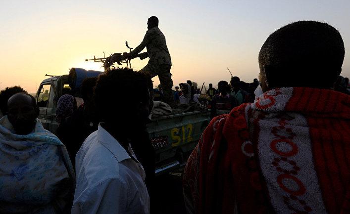 Военный патруль в районе Тыграй, штат Кассала, Судан