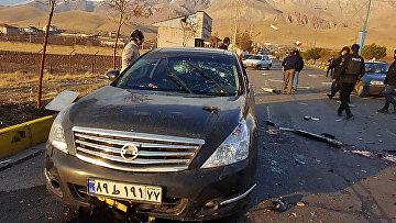 Место убийства Мухсина Фахризаде в Тегеране, Иран