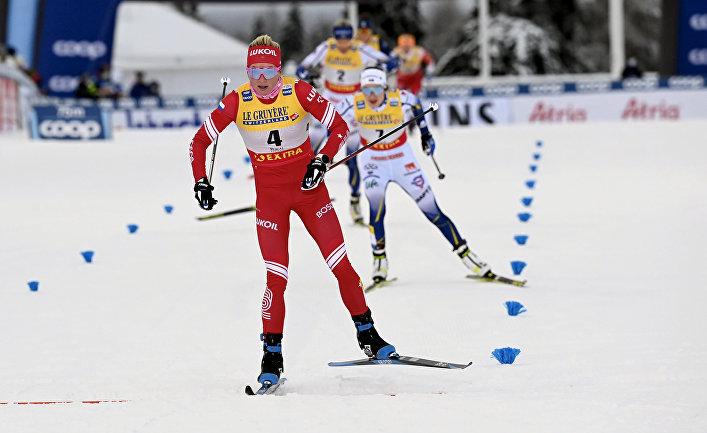 Российская лыжница Татьяна Сорина во время гонки на этапе Кубка мира в Руке, Финляндия