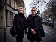 Российский художник Петр Павленский и Оксана Шалыгина в Париже