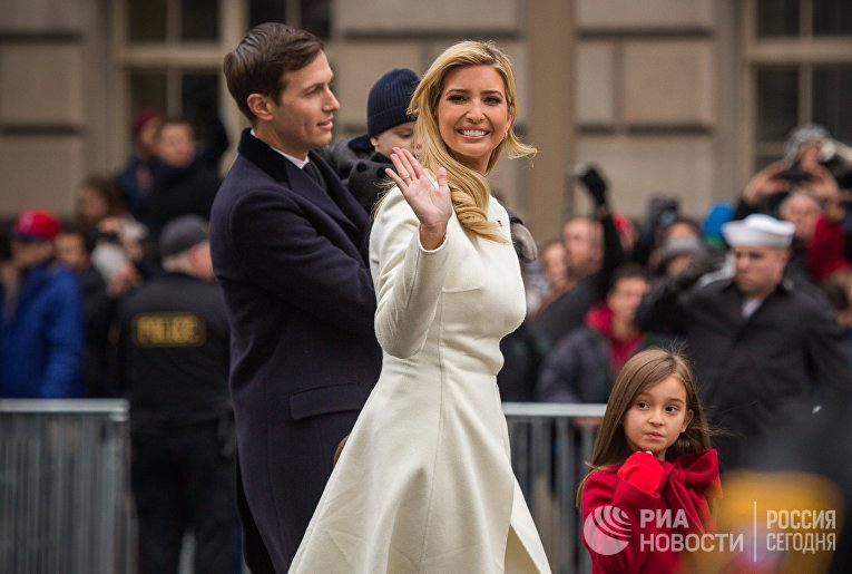 Иванка Трамп с супругом Джаредом Кушнером