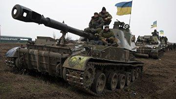 Бронетехника ВСУ в Донецкой области