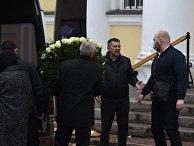 Прощание с депутатом А. Петровым в Выборге