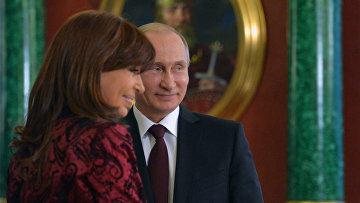 Встреча президента РФ В.Путина с президентом Аргентины К.Фернандес де Киршнер
