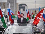 Автопробег, посвященный передаче Кельбаджара Азербайджану, в Баку