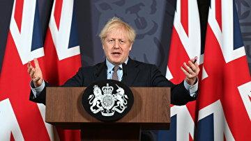 24 декабря 2020. Премьер-министр Великобритании Борис Джонсон на пресс-конференции по итогам переговоров с ЕС