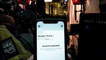 Заблокированный аккаунт Дональда Трампа в Twitter