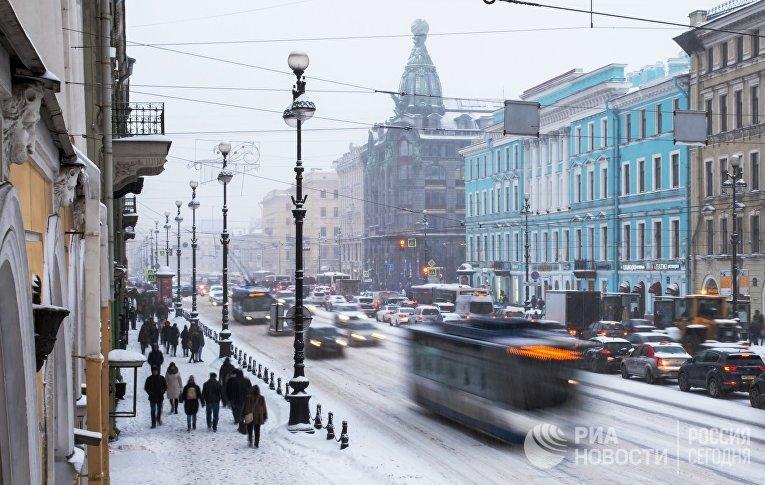 Снегопад в Санкт-Петербурге