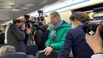 Аэропорт Шереметьево, куда приземлился самолёт с А. Навальным