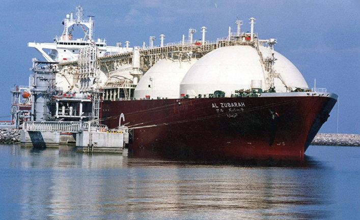 Катарский танкер для перевозки сжиженного природного газа