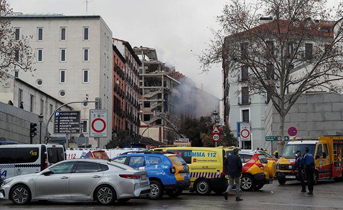 Взрыв в центре Мадрида, Испания
