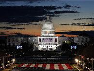 Здание Капитолия перед инаугурацией избранного президента США Джо Байдена